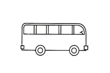 幼儿简单公共汽车简笔画