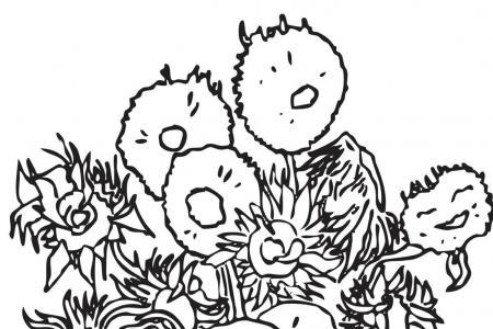 花盆里的向日葵