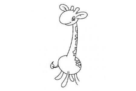 长脖子长颈鹿怎么画