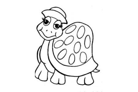 卡通乌龟简笔画图片
