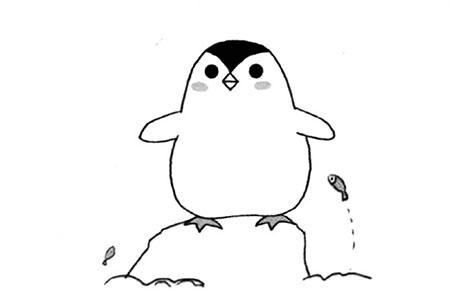 简单的企鹅简笔画教程