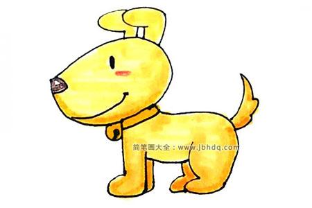 学画小黄狗