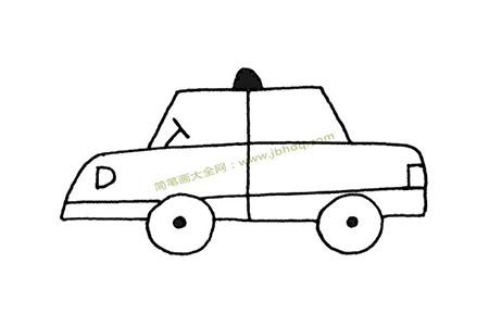 简单的出租车简笔画