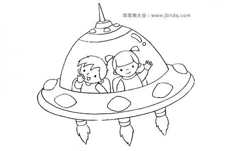乘坐宇宙飞船探索世界