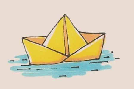 简笔画之折纸船