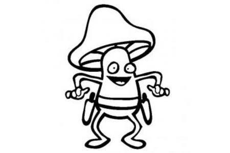 蔬菜图片 卡通蘑菇简笔画
