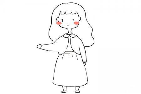 可爱简单的小女孩