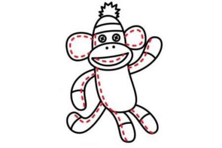 简笔画教程 猴子简笔画步骤