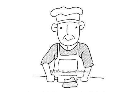厨师简笔画图片大全