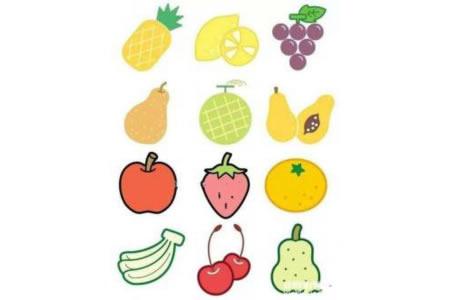 幼儿彩色水果简笔画图片