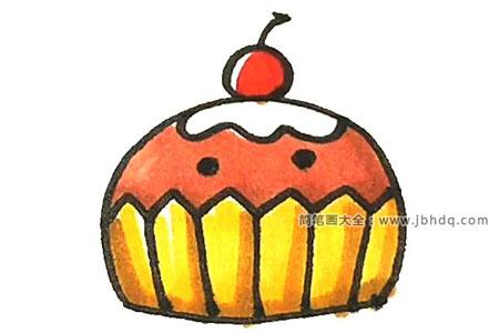 学画杯子蛋糕