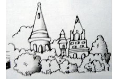 卡通童话建筑城堡简笔画