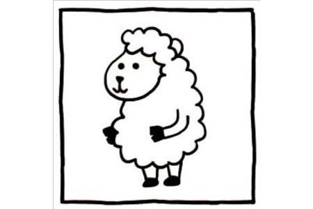 四步画出可爱简笔画 棉花糖一样的绵羊