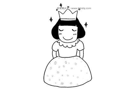 各种形象的公主简笔画图片