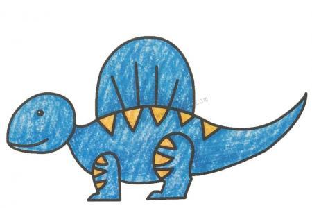 幼儿学画棘龙