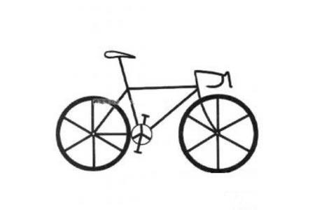 简单的自行车简笔画图片