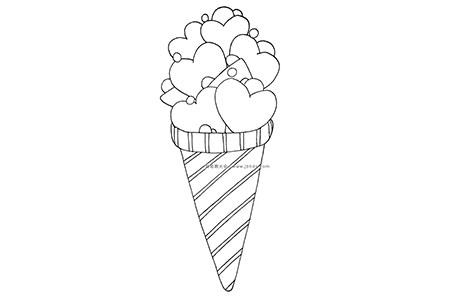 爱心冰激凌