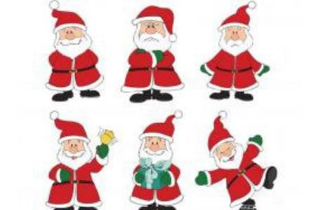 圣诞老人的六种表情