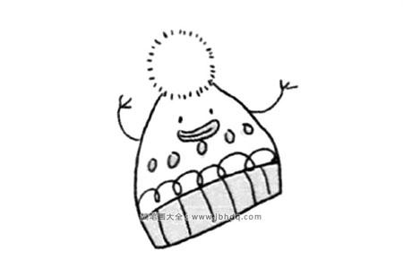 冬天的元素简笔画 帽子