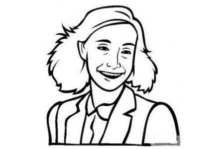 历史人物图片 安妮弗兰克简笔画画像