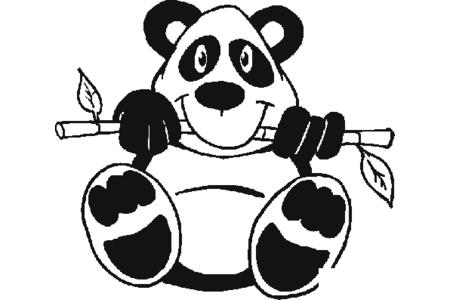 6张可爱的大熊猫简笔画