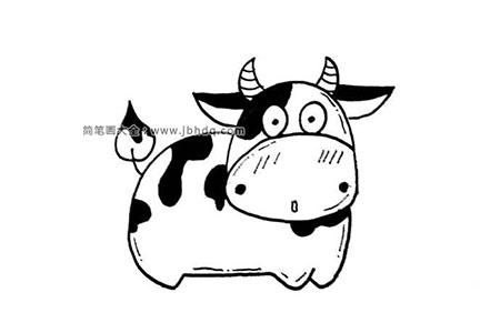 卡通奶牛简笔画