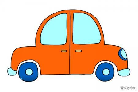 简单可爱的小汽车怎么画