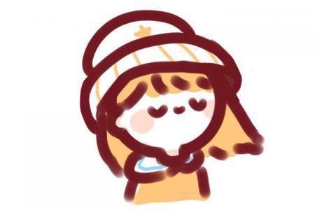冬日的少女头像简笔画
