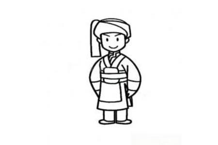 纳西族小男孩简笔画