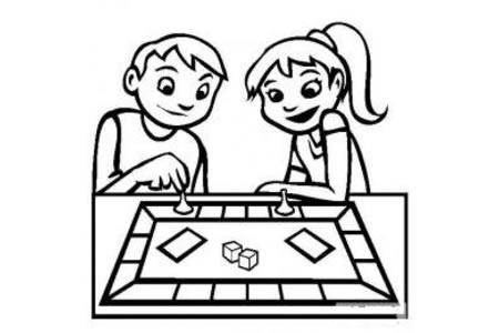儿童玩具图片 棋盘游戏简笔画图片