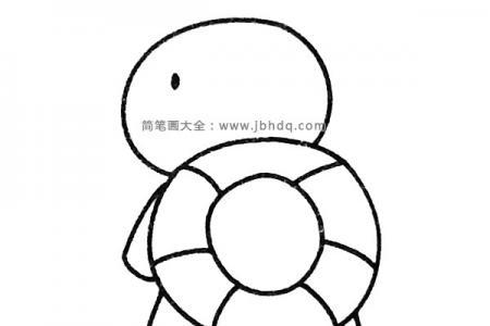 一组卡通乌龟简笔画图片