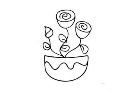 简单小盆栽简笔画