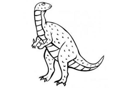 恐龙图片大全 禽龙简笔画图片