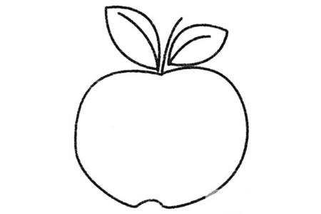 苹果简笔画大全及画法步骤