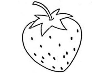 幼儿草莓简笔画