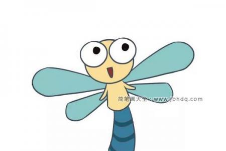 漂亮的卡通蜻蜓简笔画