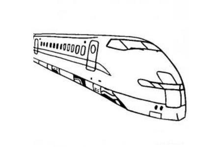 高速火车简笔画图片