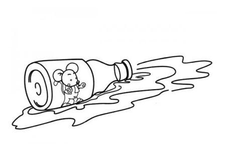 掉到瓶子里的小老鼠