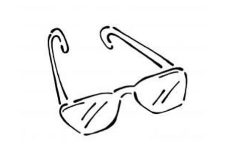 眼镜简笔画图片