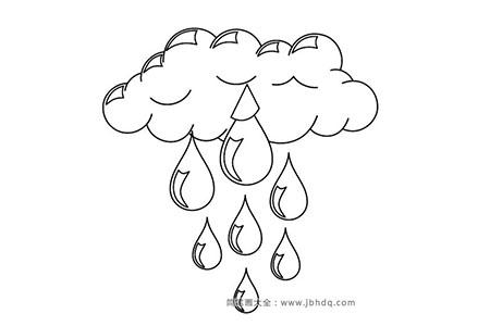 云朵和漂亮的雨滴