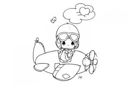 小小飞行员简笔画图片