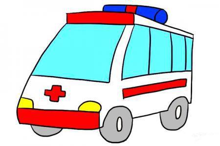 简单的卡通救护车怎么画