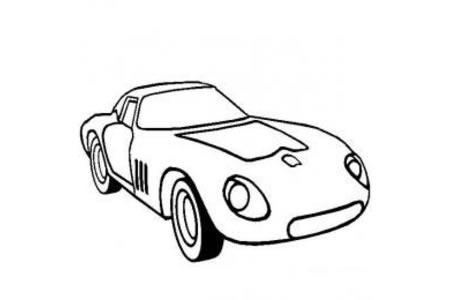 法拉利超级跑车简笔画图片