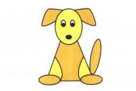 幼儿小狗简笔画画法