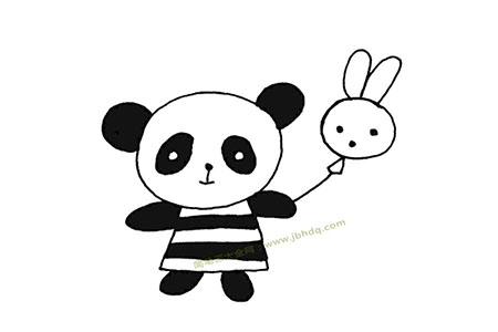 熊猫妹妹简笔画图片