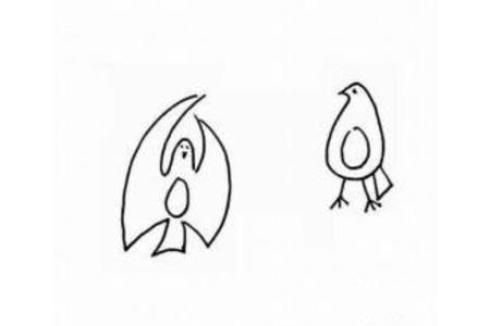 幼儿动物简笔画 鸽子