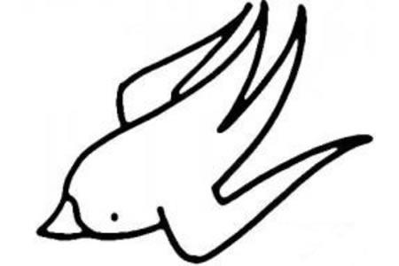 燕子简笔画画法