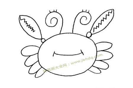 迷茫的螃蟹简笔画图片