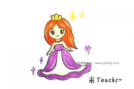 画漂亮的小公主