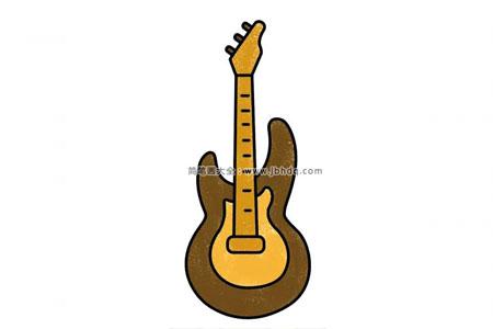 吉他简笔画